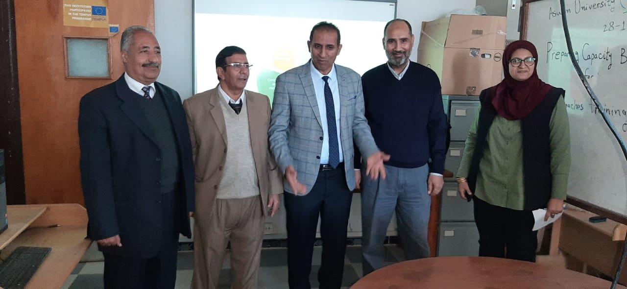جامعة أسوان تشارك بورشة عمل لإعداد معلمي اللاجئين والمهاجرين