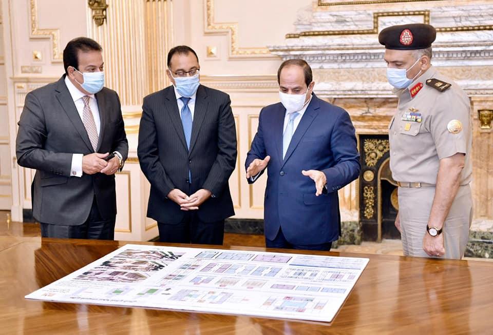 خلال اجتماع رئاسي بشأن المشروعات القومية