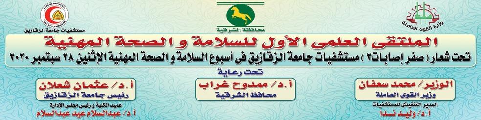 مستشفيات جامعة الزقازيق تنظم الملتقى العلمى الأول للسلامة والصحة المهنية.. الإثنين
