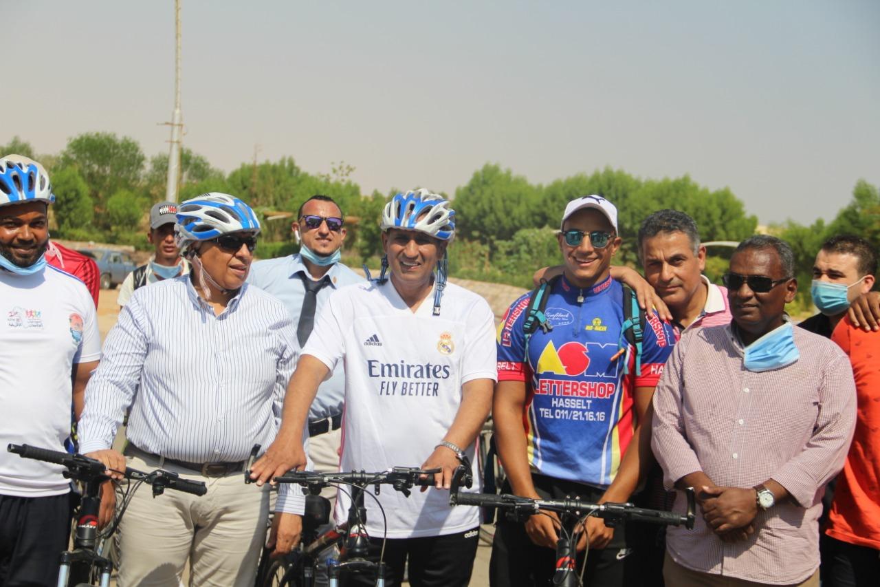 جامعة أسوان تطلق ماراثون الدراجات تحت شعار المبادرة الرئاسية «الرياضة أمن قومي»