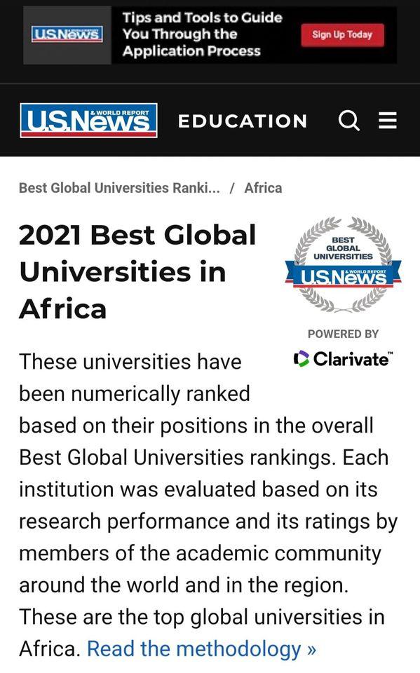 جامعة أسيوط الخامسة محليًا والثالثة والعشرين أفريقيًا بالتصنيف U.S.NEWS الأمريكي