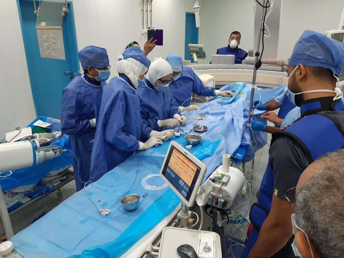 نجاح أول حالة قسطرة قلب أطفال بمستشفيات جامعة الزقازيق