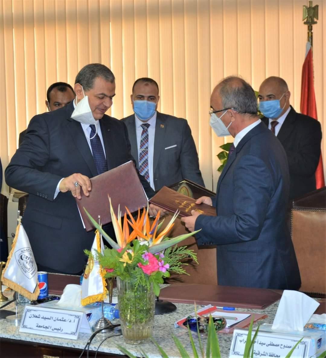 جامعة الزقازيق توقع بروتوكول تعاون مع وزارة القوى العاملة