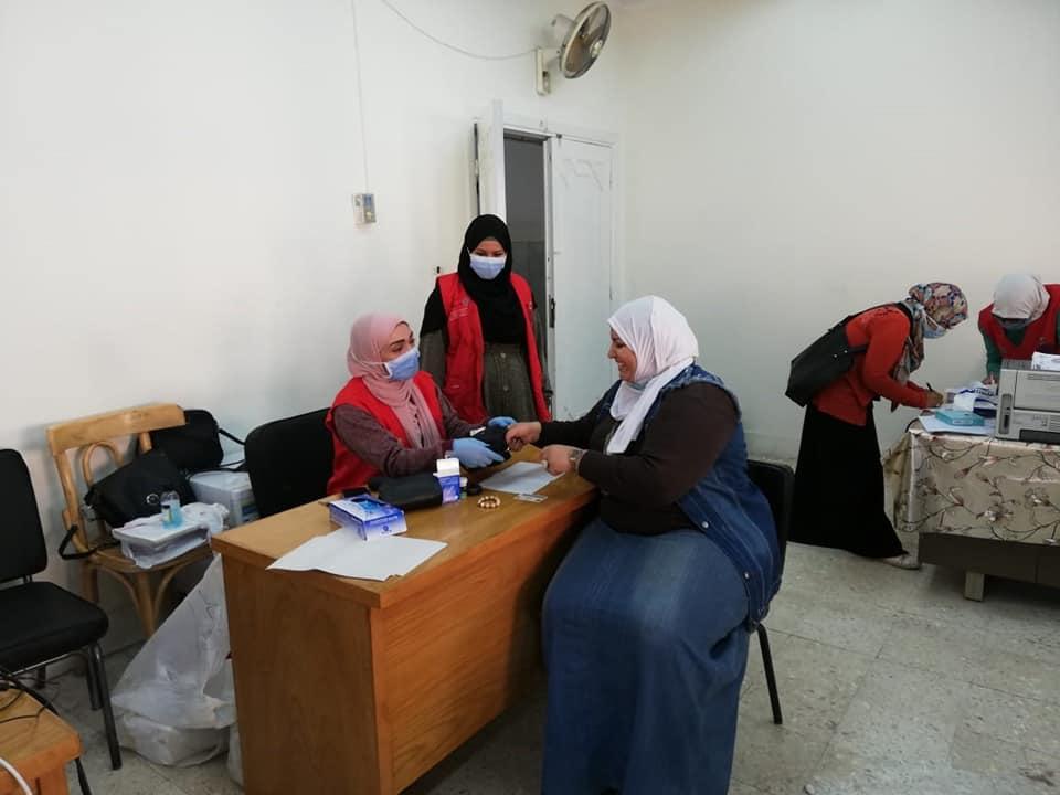 """كلية الدراسات الإسلامية والعربية بنات الأزهر بالقاهرة تستقبل حملة """"100 مليون صحة""""."""