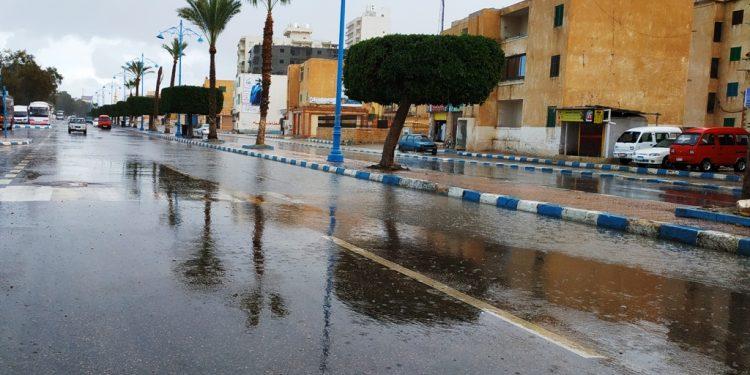 سقوط أمطار رعدية متوسطة على مطروح والساحل الشمالي