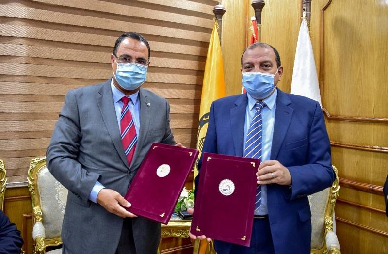 بروتوكول تعاون بين الجامعة والاتحاد العربي للثقافة الرياضية