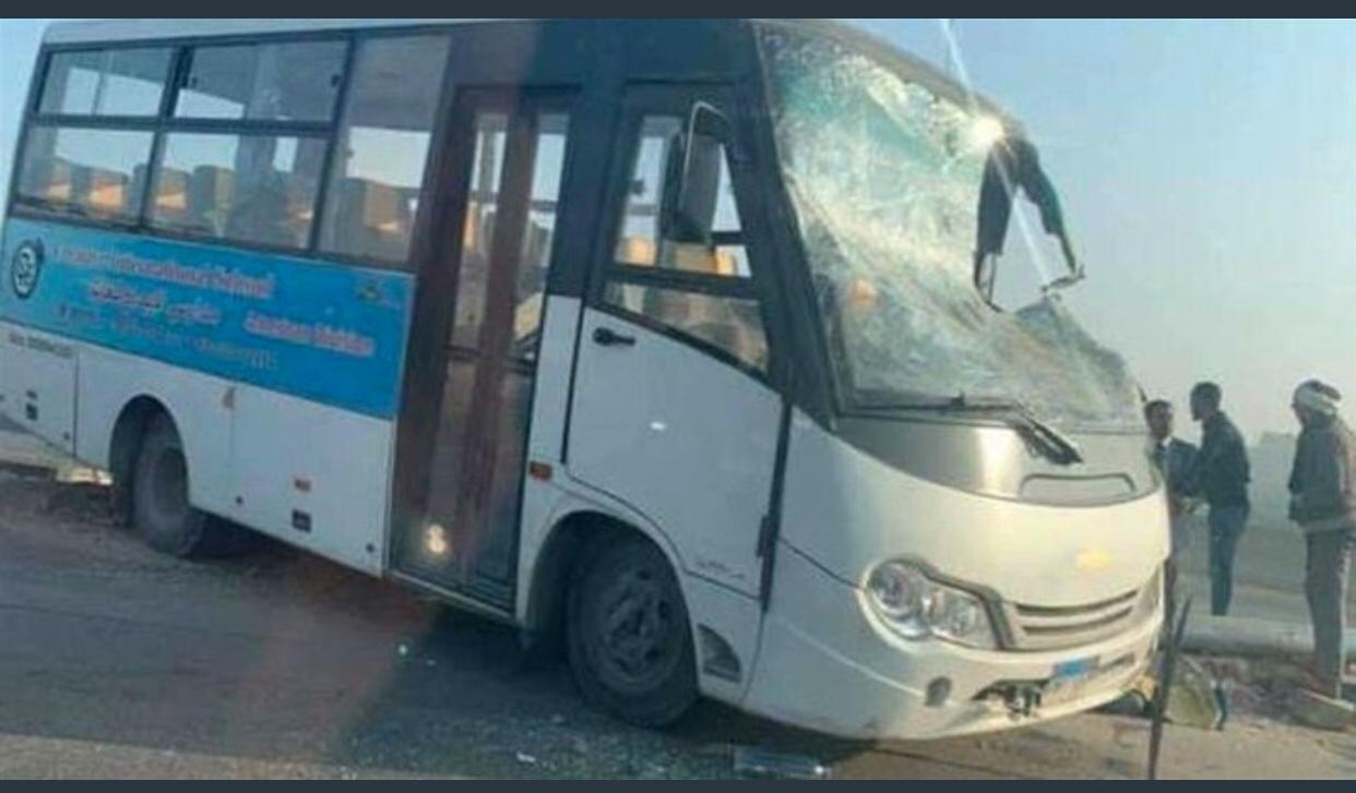 مرور الجيزة: إصابة 13 تلميذ ومشرفي أتوبيس الهرم
