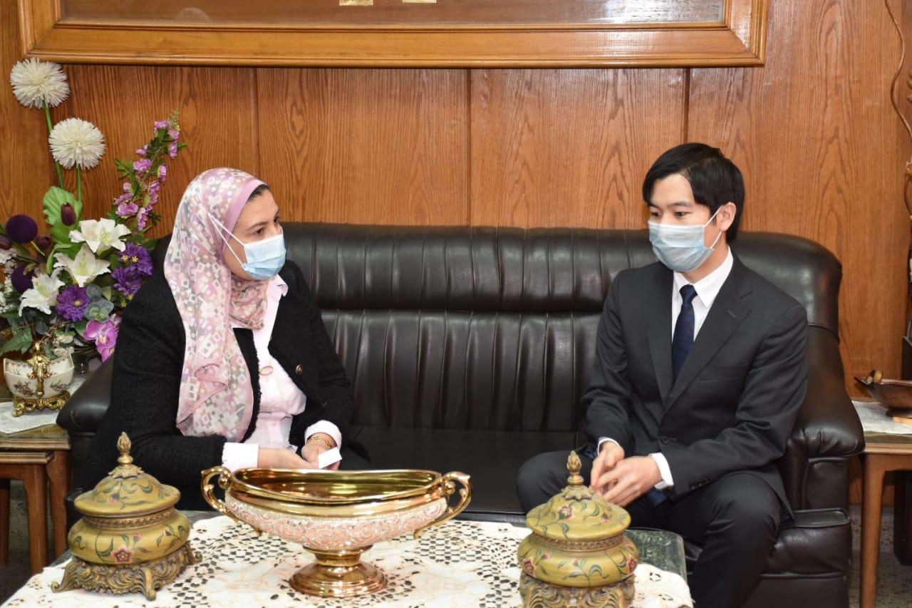 ألسن عين شمس تستقبل وفد مؤسسة اليابان بالقاهرة