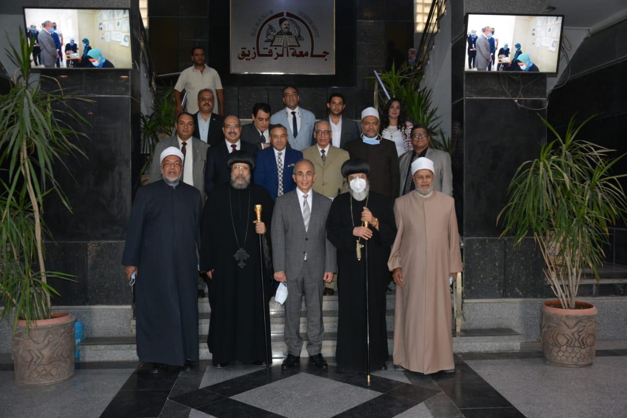 جامعة الزقازيق توقع بروتوكول تعاون مع بيت العائلة المصرية