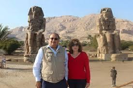 دهدى وزوجها د وجيه المراغى فى مصر