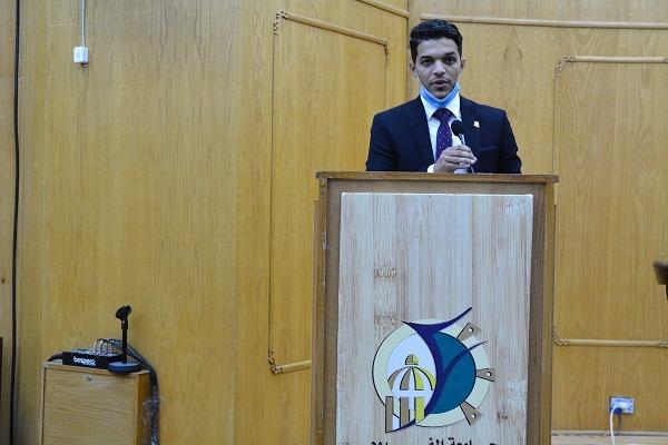 محمد حمادة رئيسًا لاتحاد طلاب جامعة الفيوم