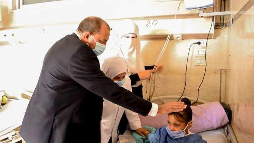 بعد توجيهات الرئيس السيسي.. جامعة بني سويف تكشف الموقف الطبي للطفلة شروق