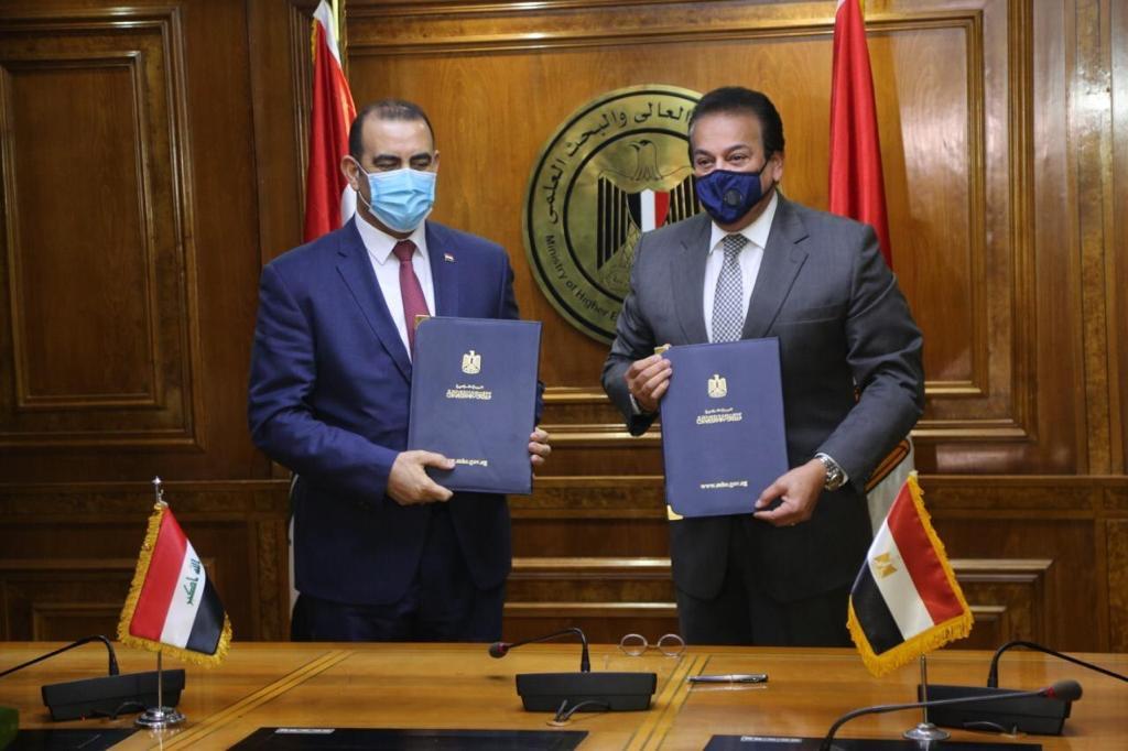 """""""التعليم العالي"""" توقع برنامج تنفيذي مع وزير التخطيط العراقي لـ2020/2022"""
