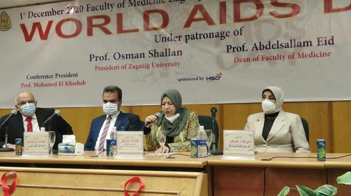 جامعة الزقازيق تفتتح فعاليات اليوم العلمي لنقص المناعة بكلية الطب