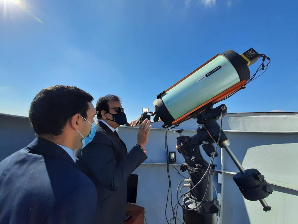 تفاصيل افتتاح محطة رصد الأقمار الصناعية