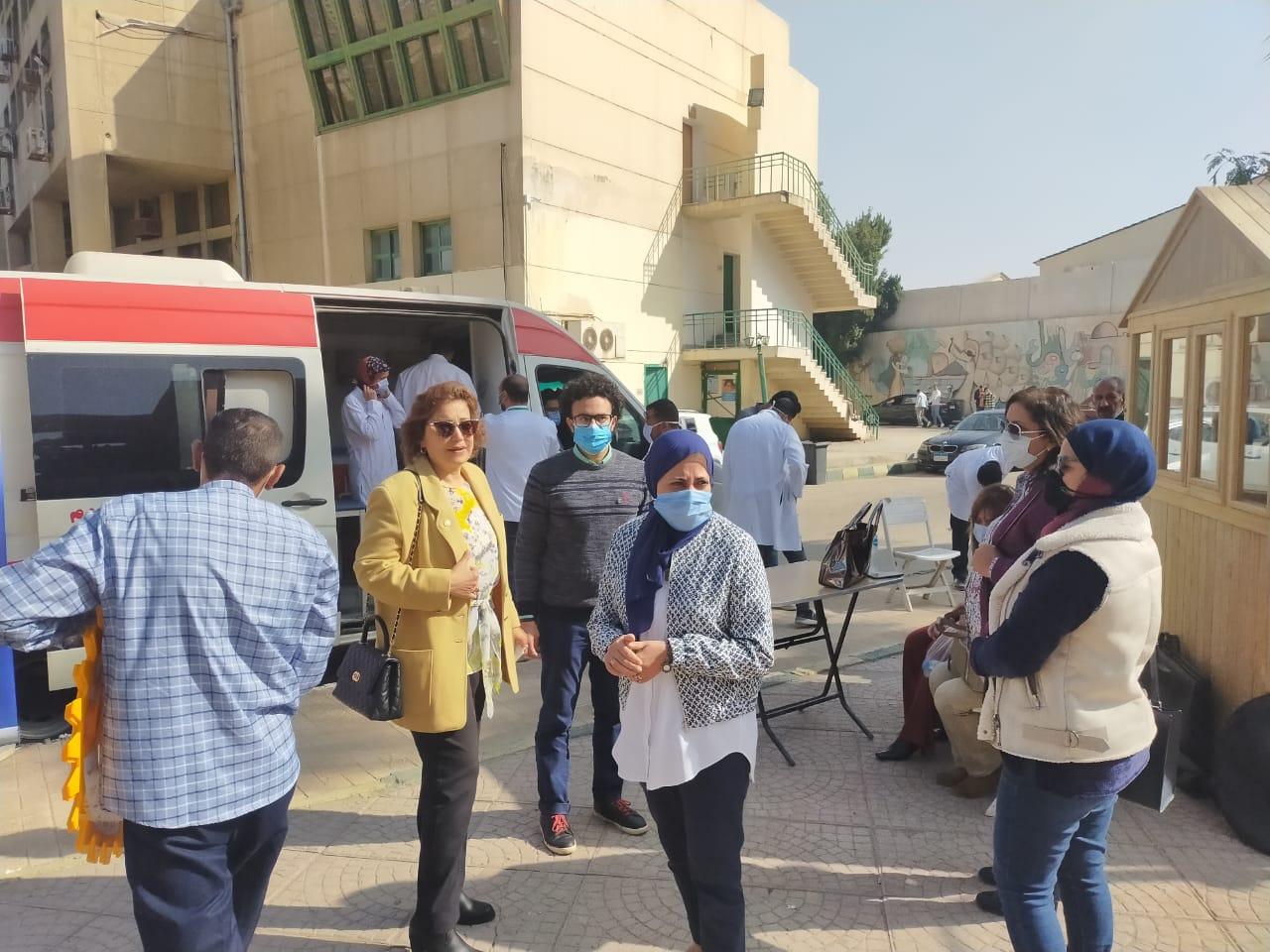 «ألسن عين شمس» تستضيف حملة وزارة الصحة للتبرع بالدم