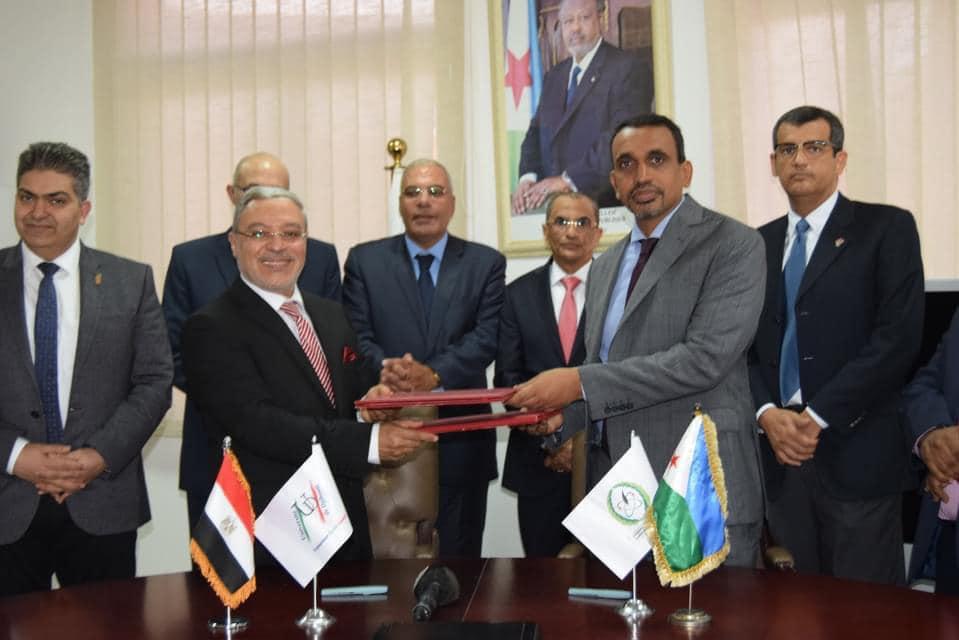 جامعة طنطا توقع اتفاقية تعاون مشترك مع جامعة جيبوتي