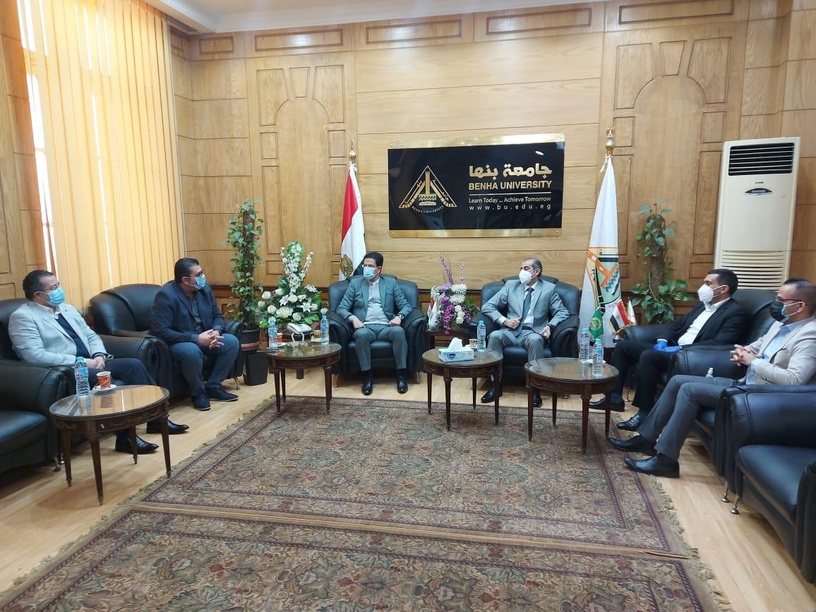 رئيس جامعة بنها لـ«وفد عراقي»: نقلة نوعية فى منظومة التعليم العالي المصري
