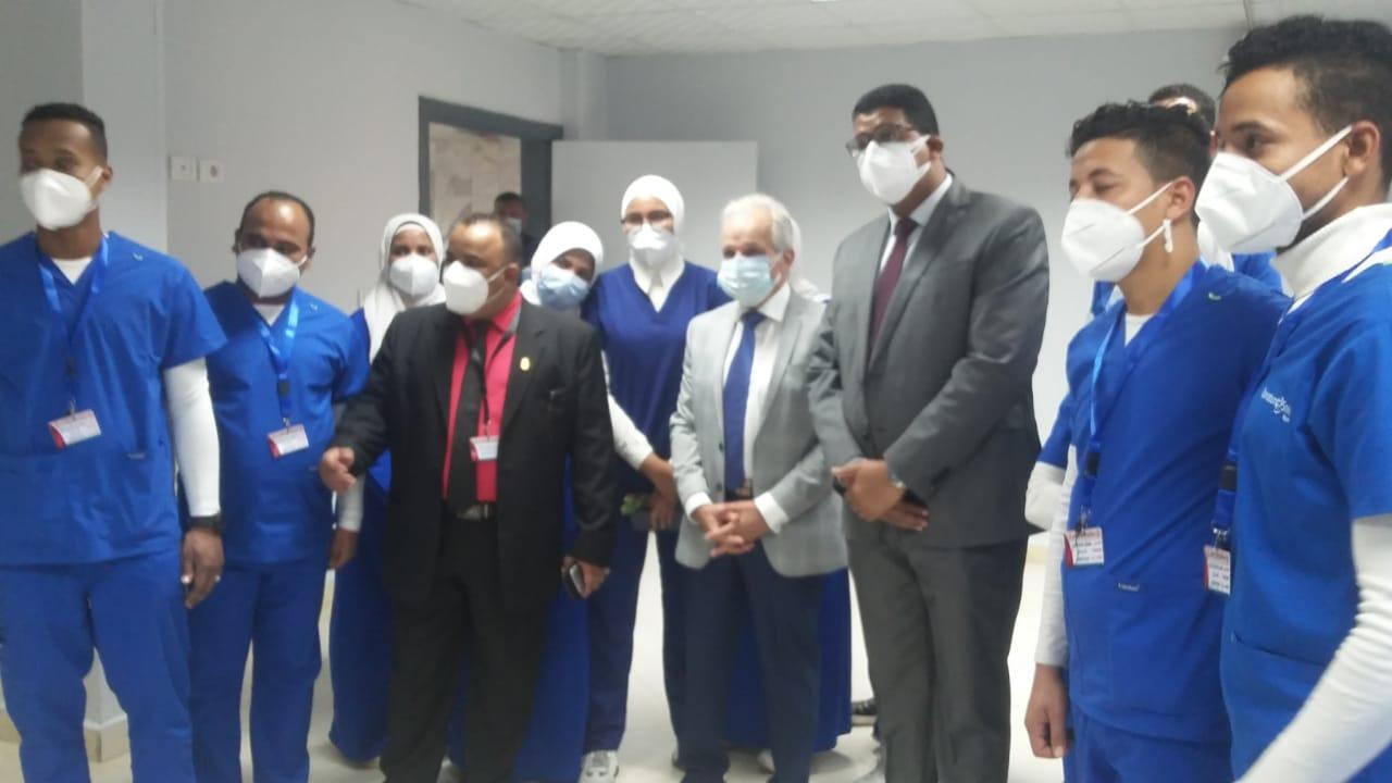 افتتاح وحدة العناية المركزة بالمستشفى الجامعي بجامعة أسوان
