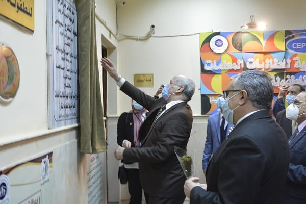 رئيس جامعة الفيوم يفتتح عدد من المشروعات بكلية التربية للطفولة المبكرة