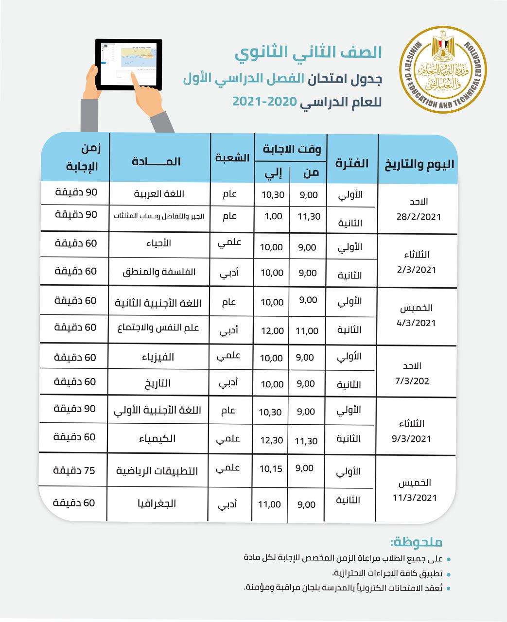 «التعليم» تكشف هوية واضعي مواصفات الورقة الامتحانية لصفوف النقل