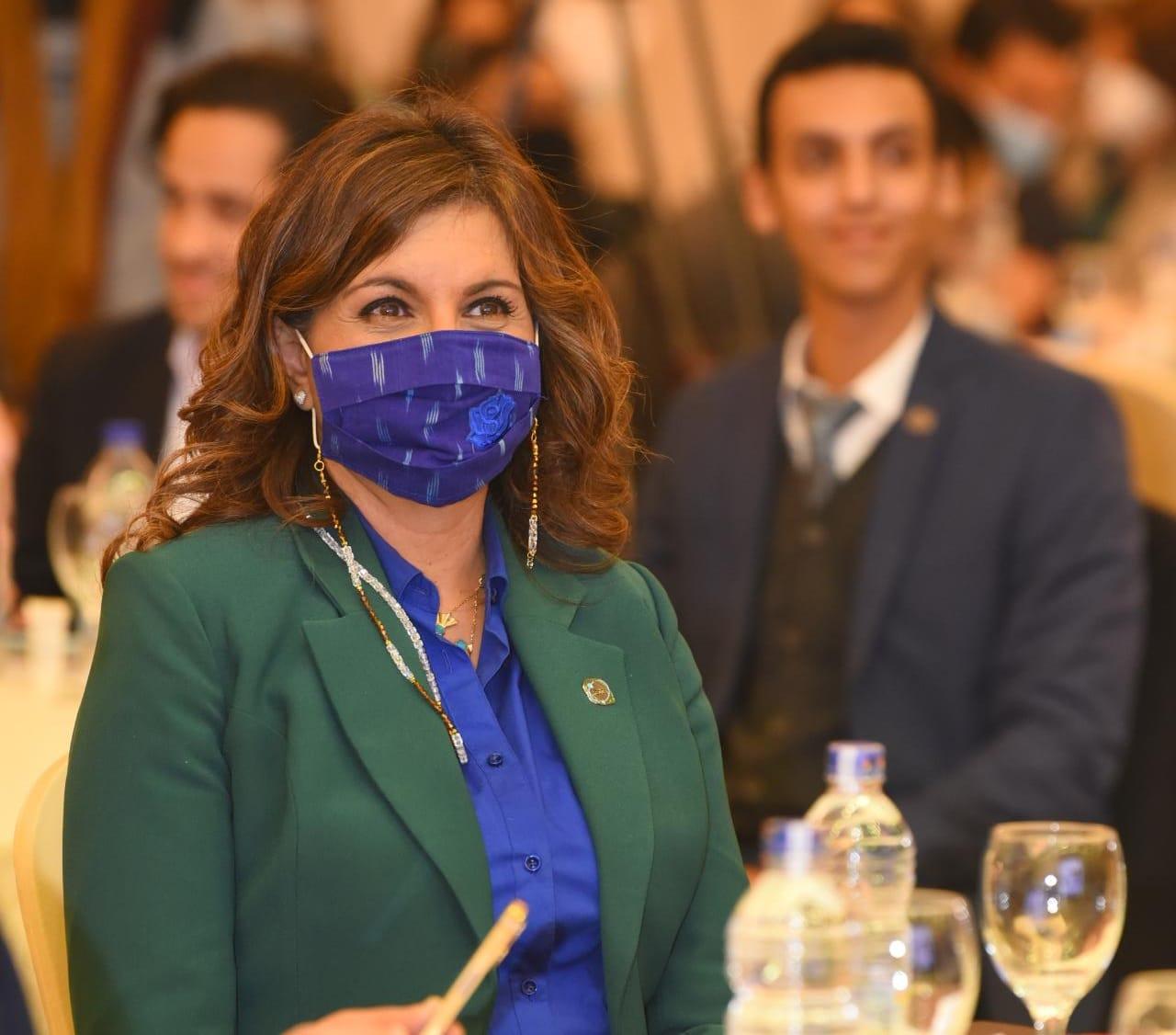 وزيرة الهجرة خلال اطلاق مركز الهجرةركز الحوار