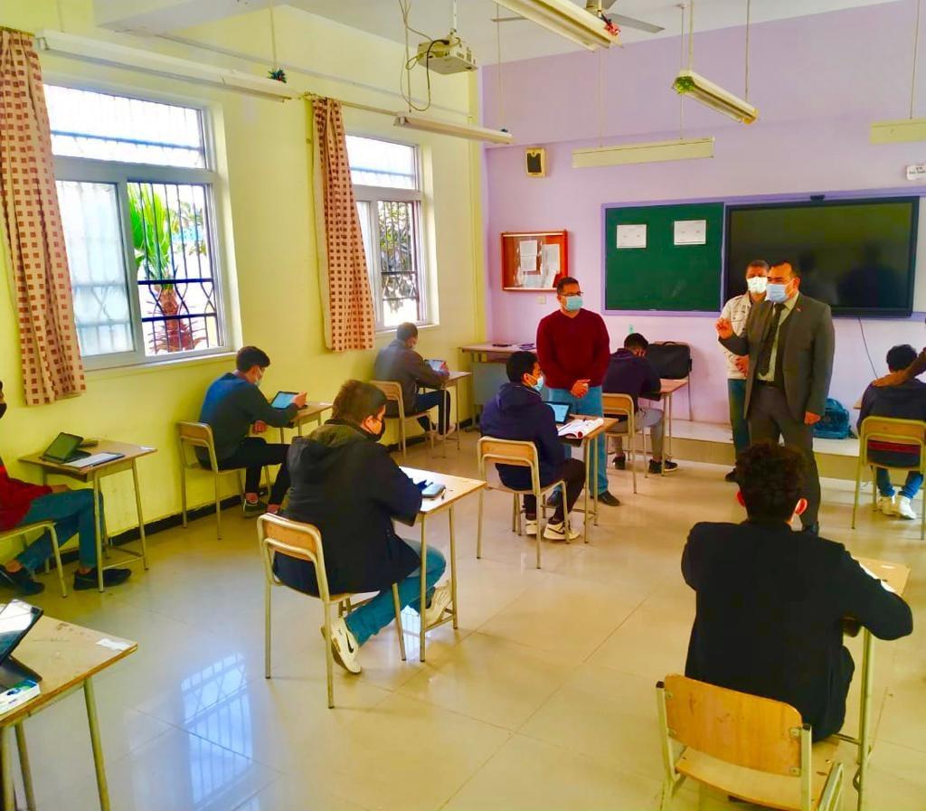 جولة تفقدية لمدير تعليم المنوفية لمتابعة انتظام سير امتحانات الشهادة الإعدادية