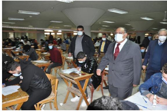 12 حالة اشتباه كورونا في الأسبوع الأول بجامعة حلوان