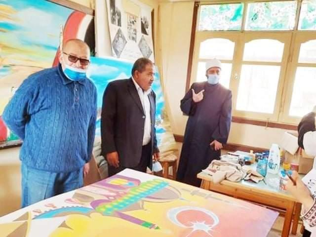 الوكيل الشرعي للإسكندرية يتفقد سير الدراسة واستعدادات الجودة وورشة التربية الفنية