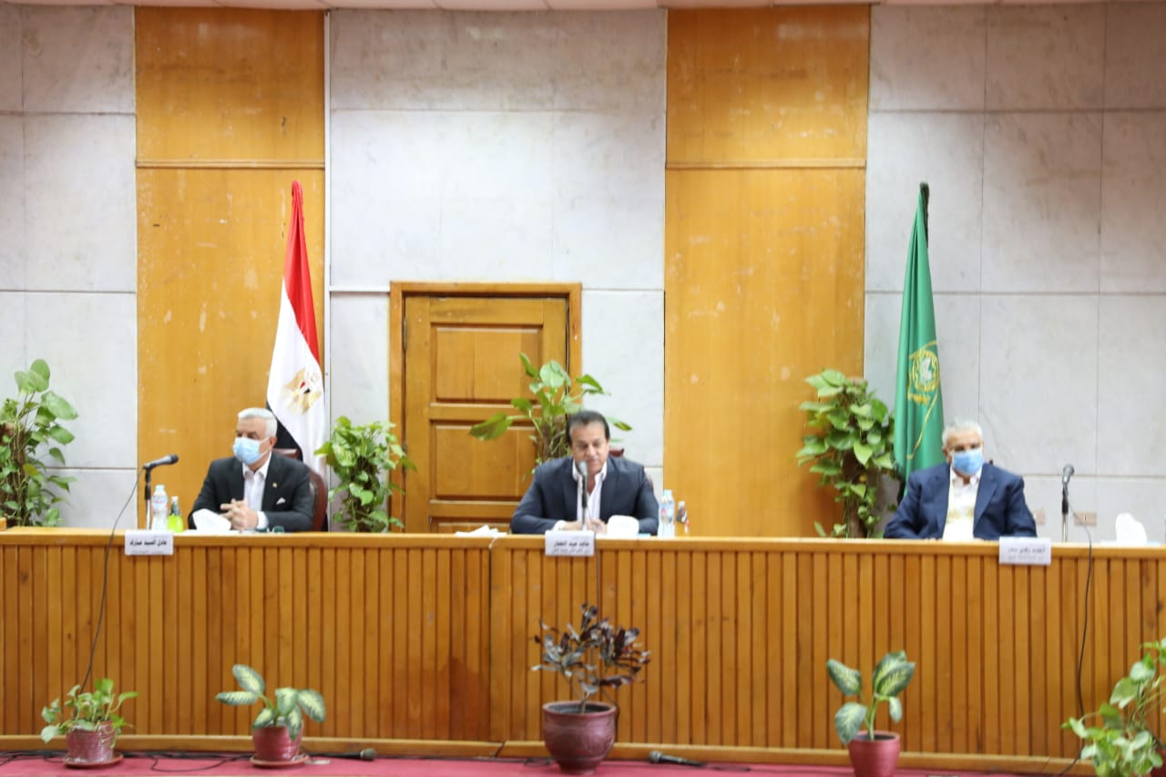 وزير التعليم العالي يرأس مجلس جامعة المنوفية