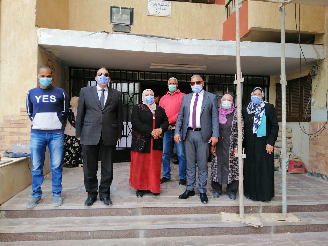 خلال زيارة مفاجئة نائب رئيس جامعة الأزهر يطالب بسرعة الانتهاء من أعمال الصيانة بالمدينة الجامعية