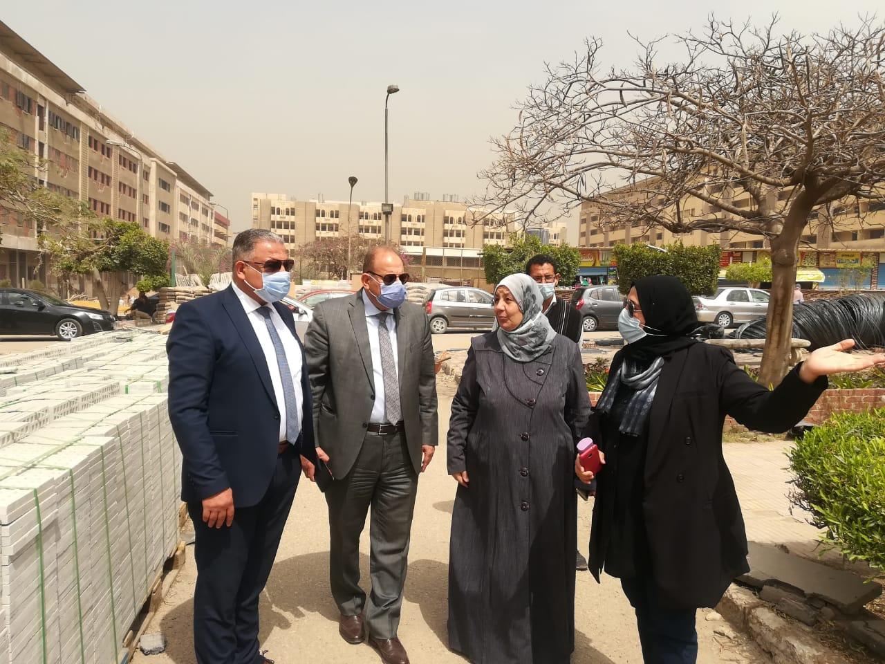 نائب رئيس جامعة الأزهر يتفقد اللمسات الأخيرة في أعمال الصيانة بالمدينة الجامعية للطالبات