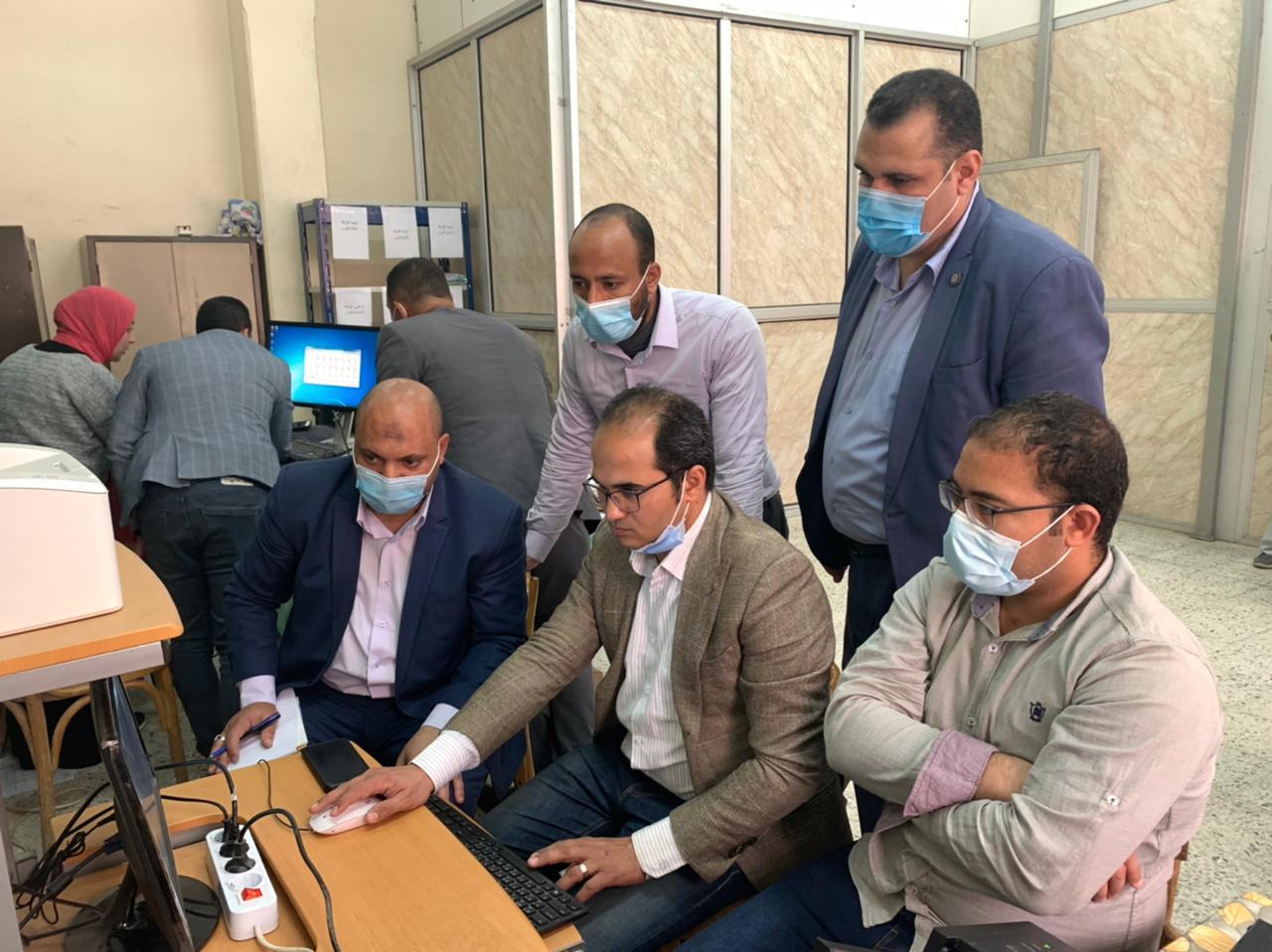 كلية الشريعة جامعة الأزهر بدمنهور تنتهي من التصحيح الالكتروني