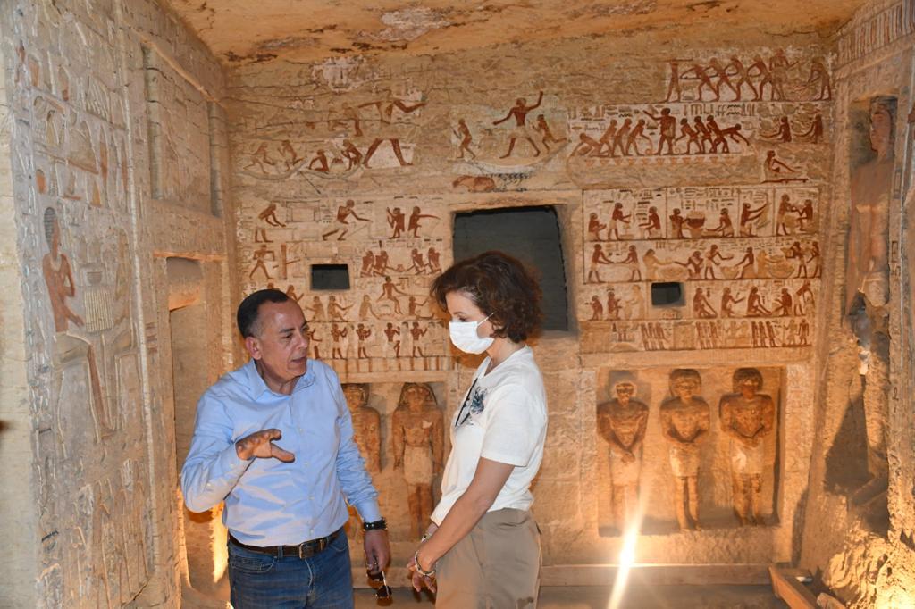 مدير عام منظمة اليونسكو تزور منطقة آثار سقارة