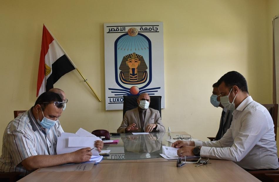 جامعة الأقصر توافق على تشكيل لجان الحكم والمناقشة لرسائل الماجستير والدكتوراه