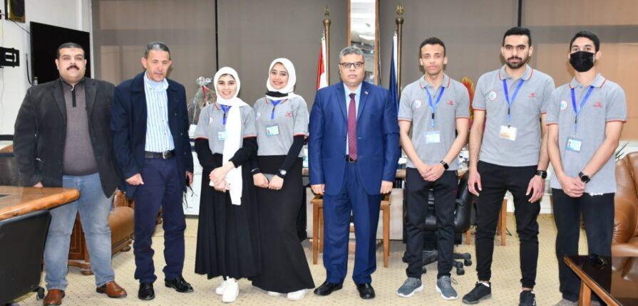 طلاب جامعة قناة السويس يشاركون بورشة عمل بمعهد إعداد القادة بحلوان
