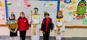ملابس فرعونية وأنشطة فنية.. فعليات احتفال المدرسة المصرية اليابانية بدمياط الجديدة بالموكب الملكي