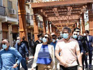 وزير السياحة والآثارومدير عام منظمة اليونسكو يقومان بجولة بمحافظة أسوان