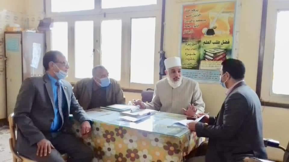 الوكيل الشرعي للإسكندرية يتفقد ختام اختبارات الشهادة الإعدادية
