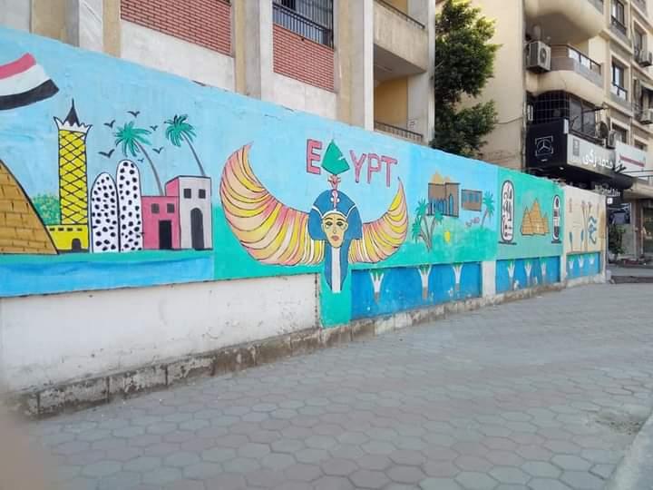 بنقوش فرعونية.. تزيين أسوار مدارس القاهرة احتفالًا بنقل المومياوات