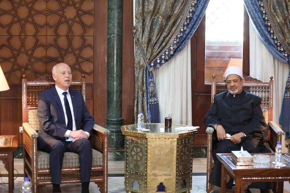 الرئيس التونسي والإمام الأكبر يتفقان على تشكيل لجنة علمية لخدمة الثقافة الإسلامية