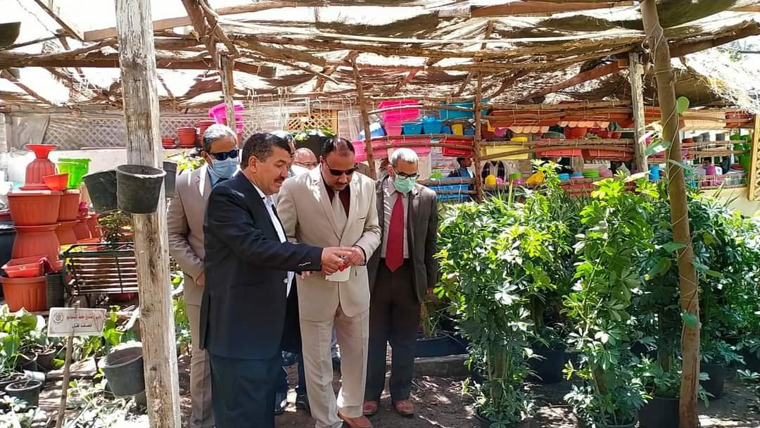 نائب رئيس جامعة الأزهر يتفقد التطورات بمشتل مركز المنتجات الزراعية وبحوثها