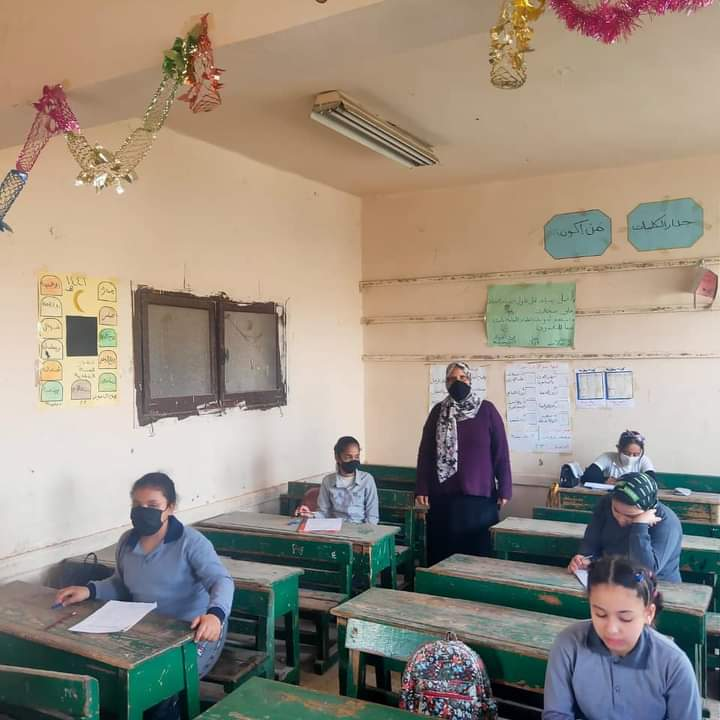 احصائيات أداء طلاب صفوف النقل للامتحان المجمع اليوم