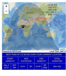 بالتفاصيل.. قصة رحلة الصاروخ الصيني وتحليقه فوق سماء مصر لمدة 3 دقائق ونصف