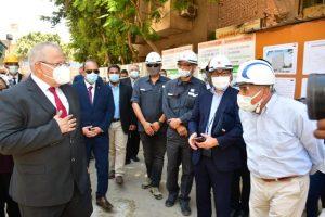 الخشت يتفقد أعمال إنشاء مبنى العيادات الخارجية بمستشفى أبو الريش الياباني تمهيدا لافتتاحها