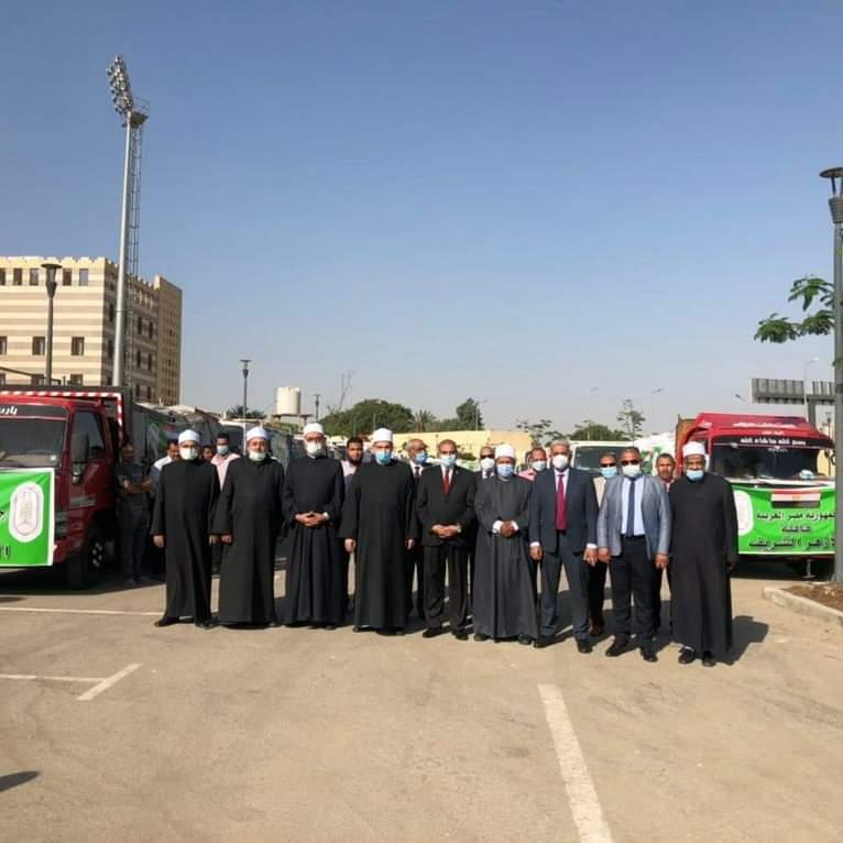 انطلاق أكبر قافلة إغاثية من الأزهر إلى قطاع غزة