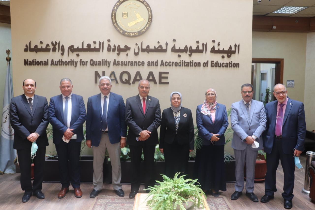 رئيس هيئة ضمان جودة التعليم والاعتماد ترحب بالتعاون مع جامعة الأزهر