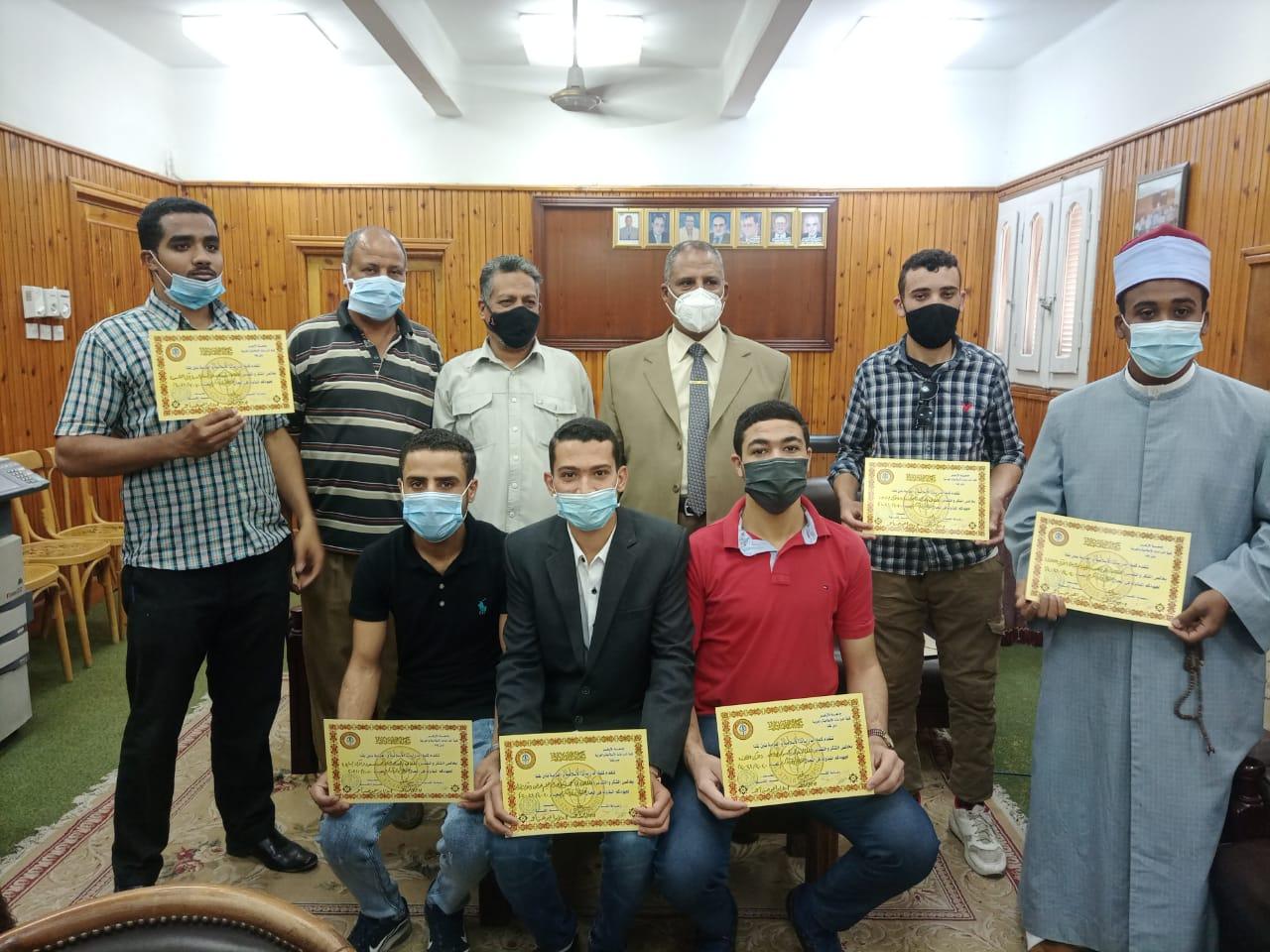 أسماء المتميزين الفائزين في مسابقة القرآن الكريم بكلية الدراسات الإسلامية بقنا