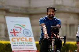 حملة دراجات في بريطانيا لمواجهة كورونا في الهند