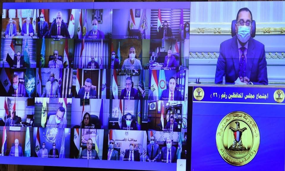 """مدبولي يطالب بتطبيق الإجراءات الاحترازية لمواجهة """"كورونا"""" بصرامة وفرض الغرامات على غير الملتزمين"""